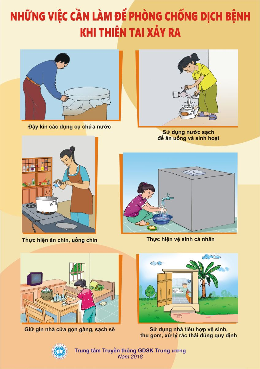 Những việc cần làm để phòng chống dịch bệnh khi thiên tai xảy ra)