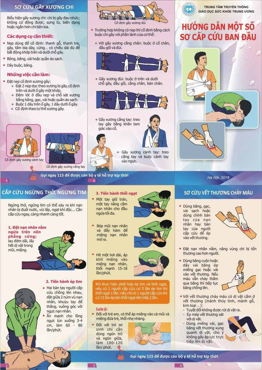 Hướng dẫn một số sơ cấp cứu ban đầu