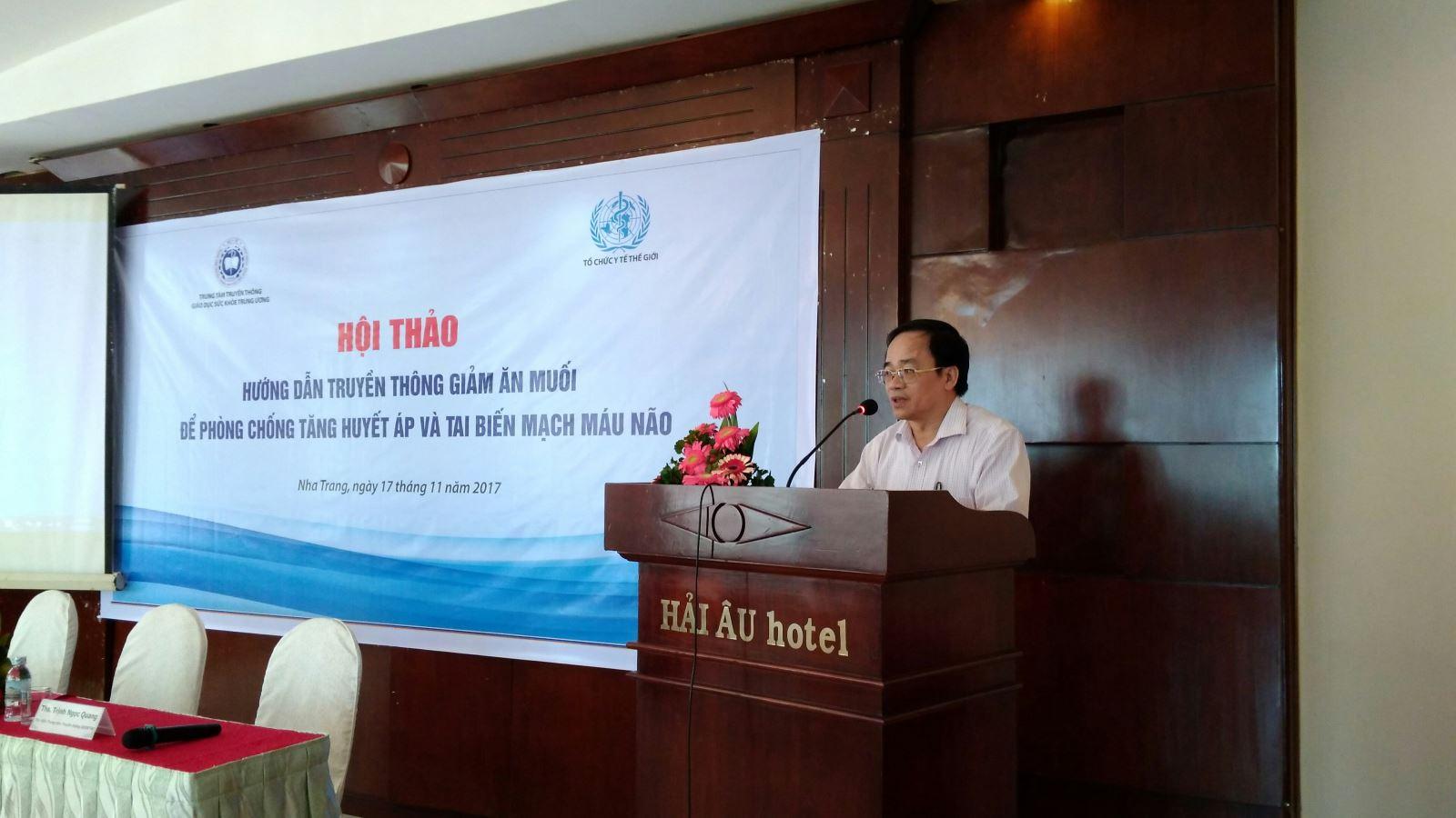 Hội thảo hướng dẫn truyền thông phòng chống tăng huyết áp và phòng chống bệnh lây nhiễm